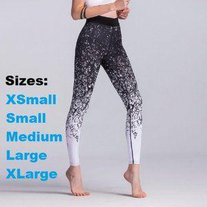 Black & White sublimation pattern leggings
